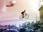 Bike over traffic